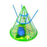 Regenbogen-kletterndes Nettospielplatz-Farben-Baum-Farben-Höhle-kletterndes Seil-Netz