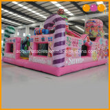 Casa Bouncy usada do urso inflável grande dos doces das ligações em ponte do partido para o brinquedo da menina (AQ01666-2)