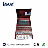 Высокое качество для карточки видео- брошюры подарка дела LCD 10.1 дюймов приветствуя видео- с экраном касания