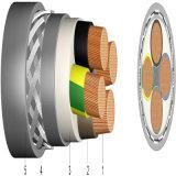 12 kv-35KV 4 conducteurs en aluminium/XLPE/PEHD Câble Câble - Py