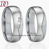 Anillos de la obra clásica del estilo de Europa del anillo de la joyería del acero inoxidable del anillo de bodas