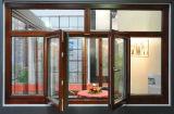 Окно двойного качания форточки внешнее алюминиевое деревянное