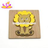 De nouveaux dessins animés pour enfants les plus chauds Lion Puzzle en bois pour l'éducation W14D035