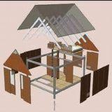 살기를 위한 조립식 강철 구조물 집 (MV-06)