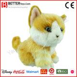Brinquedo alaranjado enchido Lifelike do gato do luxuoso macio