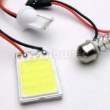 1PCS 백색 T10 16 SMD 옥수수 속 LED 위원회 차 자동 실내 독서 지도 램프 전구 돔 꽃줄 Ba9s 3adapter DC 12V Glowtec