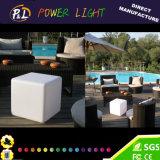 Moderner geleuchteter Möbel-LED beleuchteter bunter Würfel-Stuhl
