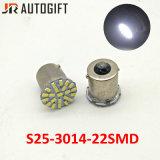 Luz de estacionamento 22SMD dos bulbos S25 3014 do diodo emissor de luz do freio do carro