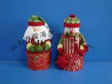 Caja del vino de Santa y del muñeco de nieve (YCWL09021AB)