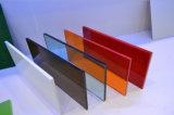 Hoja de 3 mm de plástico PMMA acrílico del color