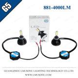 Lámpara de la niebla del kit de la linterna de la luz de niebla de Lmusonu G5 881 LED con el ventilador que refresca 9-36V 40W 4000lm