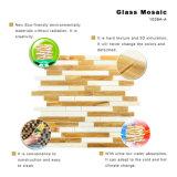Patrón de corte de la mano mosaico del piso de la cocina de cristal chips Azulejos