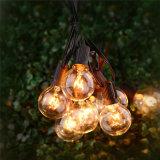 De Lichten van het koord met 25 die G40 Bollen UL van de Bol voor de Binnen/Openlucht Commerciële Openlucht het Hangen Lichten van de Lamp van het Terras van de Tuin van de Paraplu worden vermeld