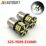 12V/24V Super White S25 21SMD 7020 de 7014 bombillas LED de freno automático