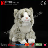 Jouet bourré par animal mol réaliste de chat de Tabby de peluche pour des gosses/enfants