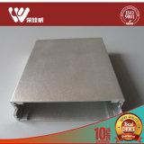 Rectángulo de aluminio de la protuberancia del OEM Customiezd con el montaje de la pared
