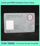 Identifikation-Karte mit magnetischem Streifen und Unterzeichnung für Schutz