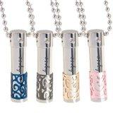 Couple de collier en acier inoxydable de bouteille de parfum Collier pendentif