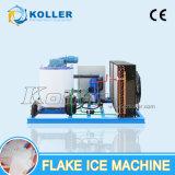 De kleine lucht-Koelende Machine van het Ijs van de Vlok met de Ontvangende Bak van het Ijs (KP20)