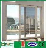 Xangai Vendedor quente de vidro temperado duplo porta corrediça de alumínio (PNOC100)