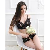 China, 2017 nuevas llegadas de la venta caliente del cordón atractivo de las mujeres del sujetador atractivo conjunto de lencería