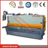 QC12k 8*4000 lámina metálica Cizalla guillotina hidráulica CNC, máquina de esquila de guillotina de hoja de metal