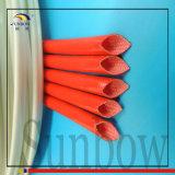 Sleeving de isolamento da fibra de vidro da borracha de silicone de Sunbow 7.0kv 8mm
