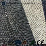 Cuoio dei guanti del PVC del reticolo del serpente di disegno di modo con la buona Portare-Resistenza