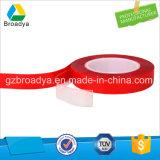 0.8mm*50m roter Film transparenter Vhb doppelter seitlicher Klebstreifen (BY3080C)
