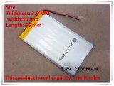 Batterij 395696 van het Polymeer van het lithium 3.7V 2700 mAh
