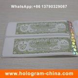 Autocollant d'hologramme estampé à chaud avec protection contre la contrefaçon