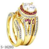 Zilveren Juwelen 925 Verlovingsringen van de Diamant van de Ringen van CZ 3PCS