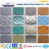 201 304 ont gravé la plaque décorative Checkered d'acier inoxydable à vendre