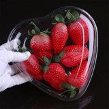 Contenitori di memoria di plastica a forma di dell'alimento della frutta della fragola del cuore a gettare