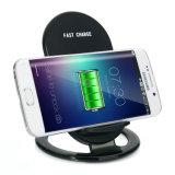 Qi Standard 2 Bobines Chargeur Pad Support Support du téléphone 9V 1A Chargeur rapide sans fil de sortie
