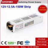 alimentazione elettrica della striscia di 12V 12.5A 150W per la casella chiara del LED