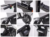 E-Vespa plegable de gran alcance cómoda 500W de Eco de la bici eléctrica verde