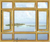 10 anni della garanzia del doppio di finestra di alluminio della stoffa per tendine con Flyscreen