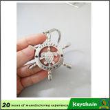 タートルの金属のKeychainの銀製の卸売をくり抜きなさい