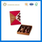 Tarjeta dorada envases de papel Caja de regalo (con el papel divider)