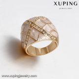 14386 Form-Schmucksache-Gold überzogen ringsum Rhinestone-Ring für Frauen