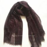 Commerce de gros BSCI Factory Geometic imprimé de polyester foulard (HWBPS901)