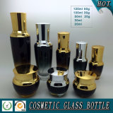 Amber Gradient Skincare Glass Cosmetic Containers Botella