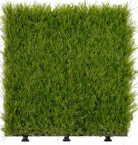 庭のための連結の屋外の装飾的な人工的な草のタイル