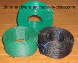 PVCは鉄ワイヤーコイルPVCコーティングの結合ワイヤーに塗った
