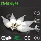 순수한 백색 높은 CRI 새로운 디자인 6W LED 초 전구