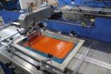 2 Farben, die Kennsatz-automatische Bildschirm-Drucken-Maschine mit Gehäuse für Verkauf kleiden