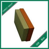 밑바닥 선물 상자를 가진 공상 주황색 덮개