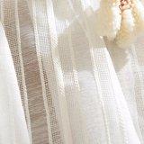 高品質の綿のリネン固体薄いカーテンファブリック(17F0085)