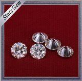 Diamant van Moissanite van de Kleur van de Besnoeiing van de Ronde van de Verkoop van de fabriek de Directe Briljante Witte voor de Juwelen van de Ring